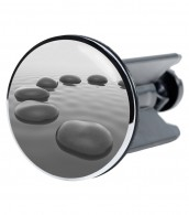 Wash Basin Plug Black Stones