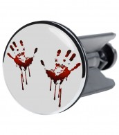 Wash Basin Plug Blood Hands