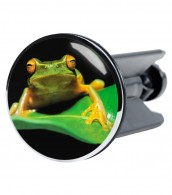 Wash Basin Plug Frog Green