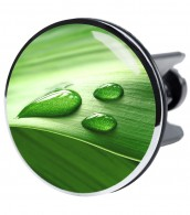 XXL Wash Basin Plug Green Leaf