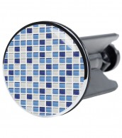 Wash Basin Plug Mosaic Blue