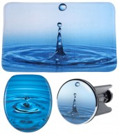 3 Piece Bathroom Set Waterdrop