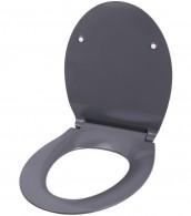 Soft Close Toilet Seat Flat Grey