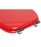 Soft Close Toilet Seat Red