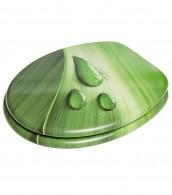 Soft Close Toilet Seat Green Leaf