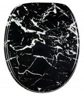 Toilet Seat Marble Black