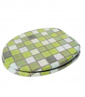 Soft Close Toilet Seat Mosaic Green