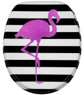 Soft Close Toilet Seat Flamingo