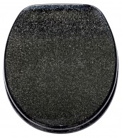 Soft Close Toilet Seat Glittering Black