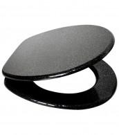 Soft Close Toilet Seat Glittering Black