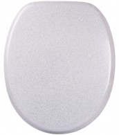 Soft Close Toilet Seat Glittering White
