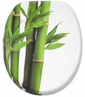 Toilet Seat Bamboo Green