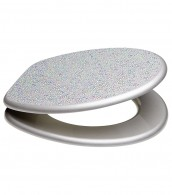 Soft Close Toilet Seat Crystal Silver