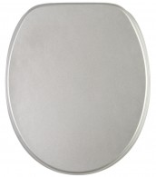 Soft Close Toilet Seat Glittering Silver