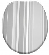 Soft Close Toilet Seat Grey Stripes