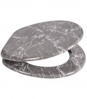 Soft Close Toilet Seat Marble Grey