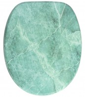 Soft Close Toilet Seat Marble Green