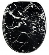 Soft Close Toilet Seat Marble Black