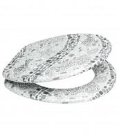 Soft Close Toilet Seat Mosaic World Grey