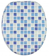 Soft Close Toilet Seat Mosaic Blue