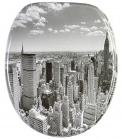 Toilet Seat Skyline New York