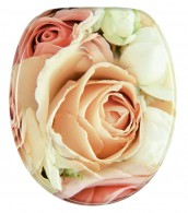 Soft Close Toilet Seat Pink Rose