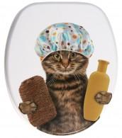 Soft Close Toilet Seat Shower Cat