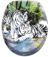 Toilet Seat White Tiger