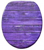 Soft Close Toilet Seat Purple Wall