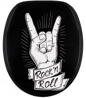 Soft Close Toilet Seat Marble Rock 'n' Roll