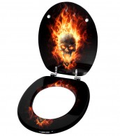 Toilet Seat Skull in Flames