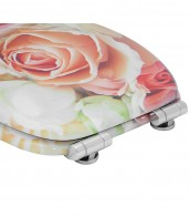 Soft Close Toilet Seat Pink Rose