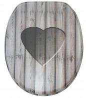 Soft Close Toilet Seat Wooden Heart